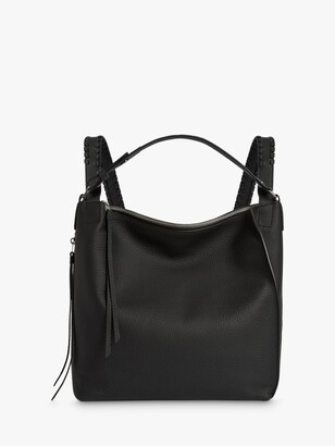 AllSaints Kita Small Leather Backpack, Black