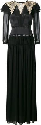 Alberta Ferretti Embroidered Long Dress