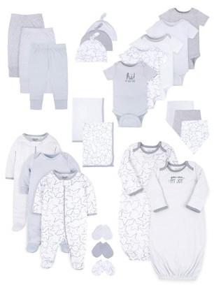 Little Star Organic Baby Girl or Boy, Gender Neutral Newborn Clothes Shower Gift Set, 24pc