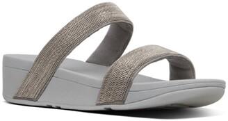 FitFlop Lottie Shimmer Mesh Slide Sandal