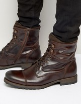 Aldo Lemond Leather Laceup Boots