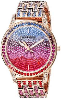 Juicy Couture Black Label Women's JC/1044MTRG Multicolor Swarovski Crystal Accented Rose Gold-Tone Bracelet Watch