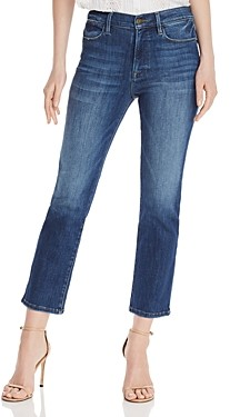 Frame Le High Ankle Straight-Leg Jeans in Bestia