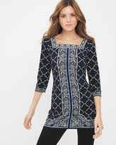 White House Black Market Petite Printed Tunic