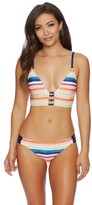Splendid Watercolor Horizon Banded Bralette Bikini Top