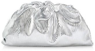 Bottega Veneta The Pouch Metallic Leather Clutch