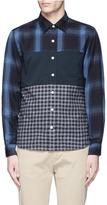 Nanamica Check plaid patchwork shirt
