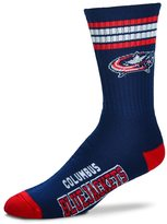 For Bare Feet Adult Columbus Blue Jackets Deuce Striped Crew Socks