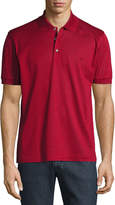 Brioni Cotton Pique Polo Shirt, Red