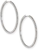 Memoire 18K White Gold & Diamond Infinity Hoop Earrings, 1.25 tdcw