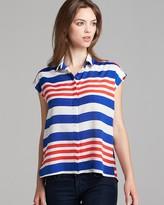 Aqua Blouse - Candy Cane Stripe