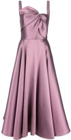 Marchesa knot flared gown