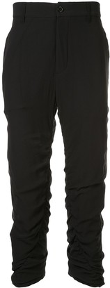 Ann Demeulemeester ruched trousers