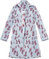 Luisa Beccaria Mohair Floral Embroidered Coat