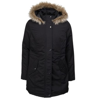 Fluid Womens Parka Jacket Black