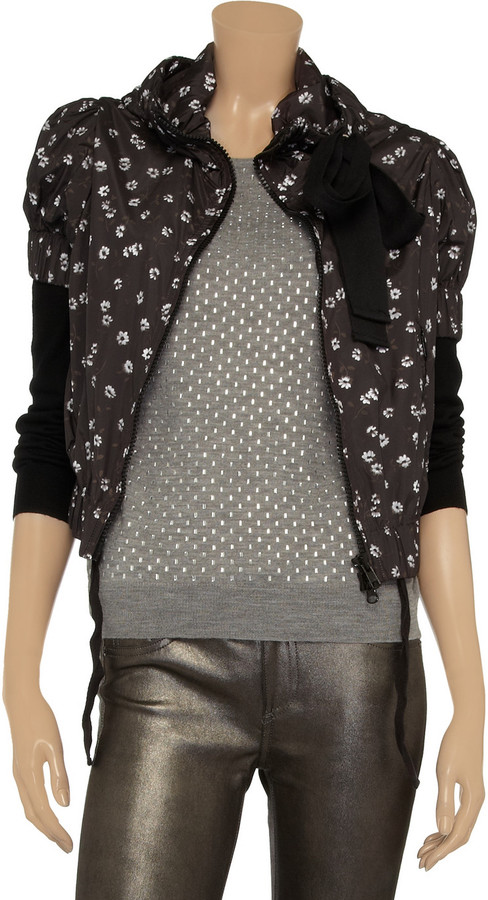 RED Valentino Floral-print shell jacket