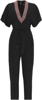 Vanessa Seward Embellished Silk Jumpsuit