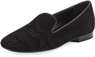 Donald J Pliner Hapi Crystal-Studded Suede Moc Loafers