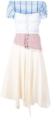 Rosie Assoulin Patchwork-Style Day Dress