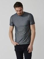 Frank + Oak Knitted-Twill Cotton-Blend T-Shirt in Dark Indigo