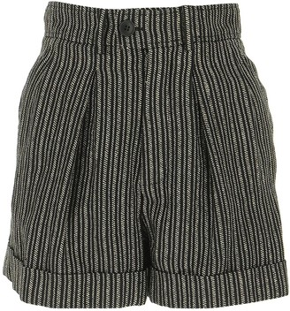 Saint Laurent High-Waisted Striped Shorts