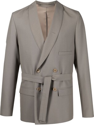 Lemaire Double-Breasted Belted Blazer