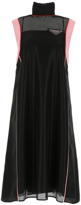 Prada Mesh Sleeveless Midi Dress