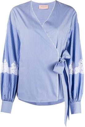 Ermanno Ermanno Striped Wrap Shirt
