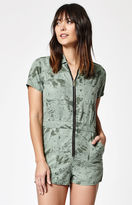Obey Charlie Camo Print Romper