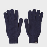 Paul Smith Men's Navy Merino Wool Gloves
