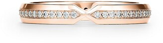 Tiffany & Co. The Setting nesting narrow band ring in 18k rose gold with diamonds