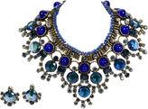One Kings Lane Vintage Vrba Lapis Bib Necklace and Earrings