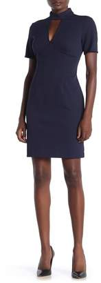 Trina Turk trina Camari Short Sleeve Front V Cutout Dress
