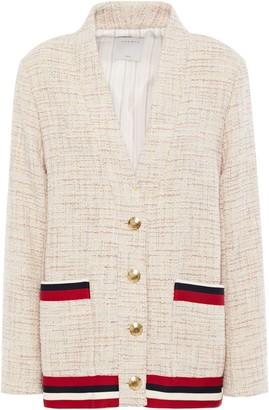 Sandro Adelaide Metallic-trimmed Tweed Jacket