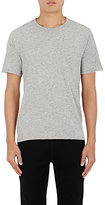 Barneys New York MEN'S DONEGAL-EFFECT COTTON-BLEND T-SHIRT-GREY SIZE S