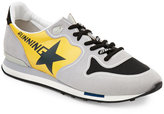 Golden Goose Deluxe Brand Grey & Yellow Running Sneakers