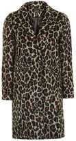 Petite leopard print coat