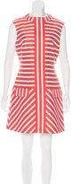 Karen Millen Striped Metallic Dress