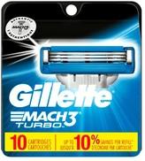 Gillette Mach3® Turbo Men's Razor Blade Refills - 10ct