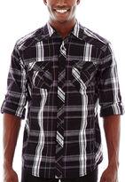 JCPenney Chalc Long-Sleeve Woven Shirt
