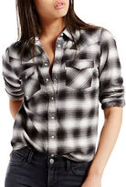Levi's Modern Western Cotton Plaid Shirt