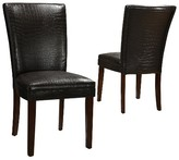 Homelegance Dolce Faux Alligator Dining Chair Wood/Dark Brown (Set of 2)