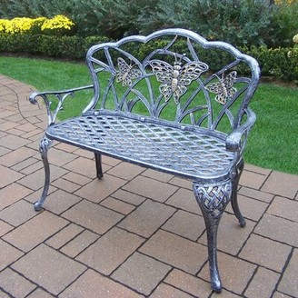 August Grove Wensley Aluminum Garden Bench Color: Antique Pewter