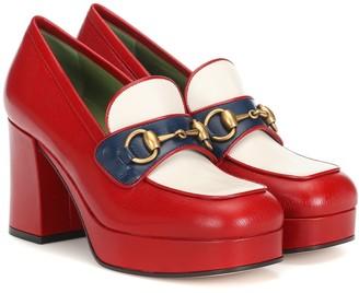 Gucci Horsebit leather loafer pumps