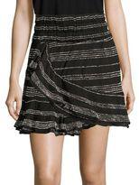 IRO Batsy Ruffled Striped Skirt