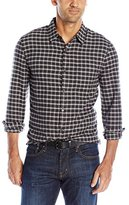 Lucky Brand Men's Long Sleeve Ballona Shirt in Charcoal Plaid