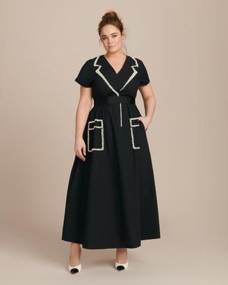 Huishan Zhang Roza Cotton Dress with Pearl Embellishment