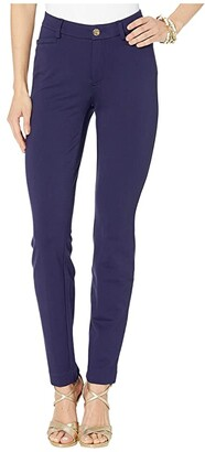Lilly Pulitzer Kelly High-Rise Knit Skinny Pants (True Navy) Women's Casual Pants