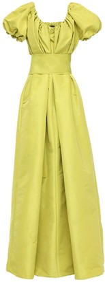 Rochas Gathered Gown W/ Belt