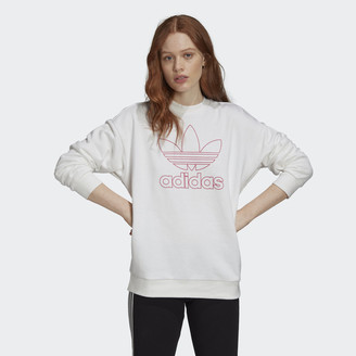 adidas Outline Trefoil Crew Sweatshirt
